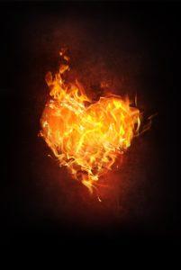 srdce ohen