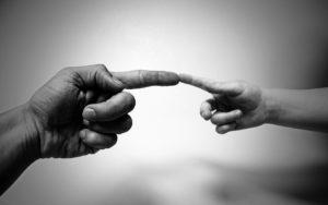 dotyk rukou